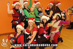 étudiants du cours salsa maman bébé