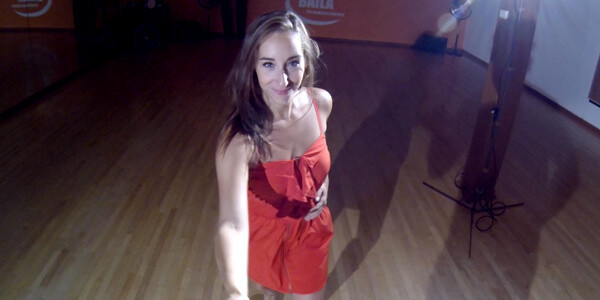 First person View salsa dancer at Baila Productions Latin Dance School
